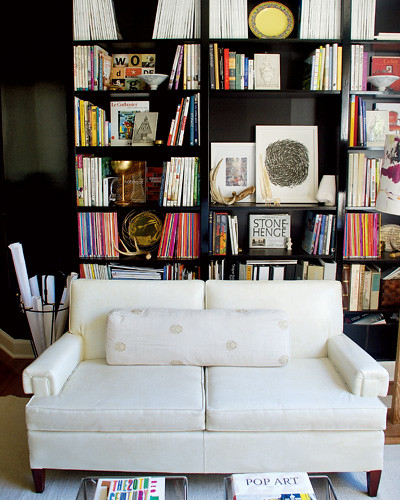 Bookcase Behind White Sofa Black Flickr Photo Sharing