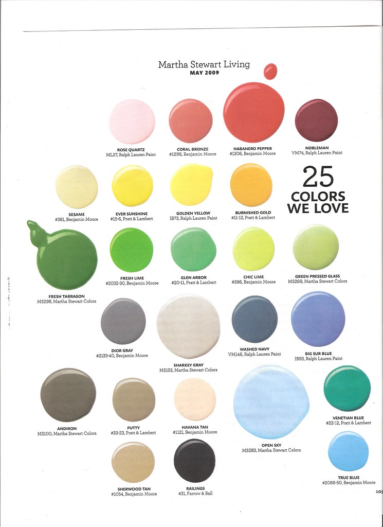 Paint Colors Martha Stewart Living May 2009 Flickr Photo Sharing