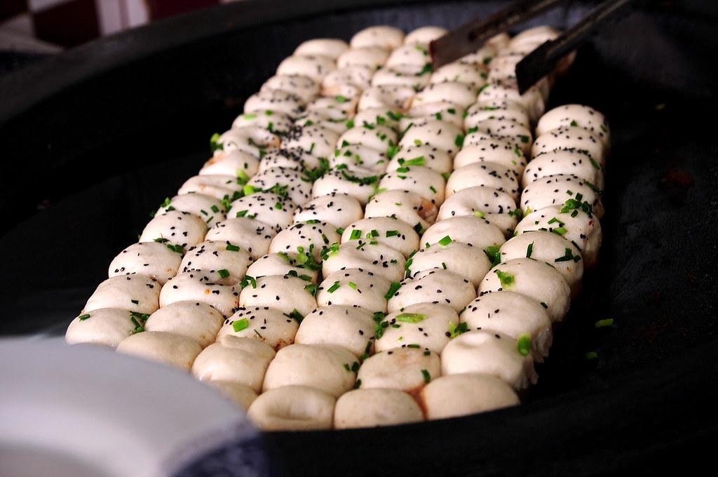 上海豐裕生煎-剛煎好的生煎包