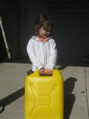 Lexi Trying to Carry a Jerry Can