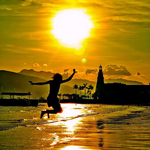 sunset motion silhouette 50mm jump nikon child subic distillery photochallenge d90 nikkor50f14 2009challenge 2009challenge144 artistpicks sheilaparas gettyvacation2010