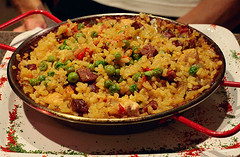 produce(0.0), paella(1.0), rice(1.0), food(1.0), pilaf(1.0), dish(1.0), cuisine(1.0),