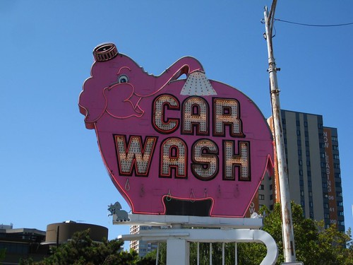 Pink elephant car wash (why not?) Seattle