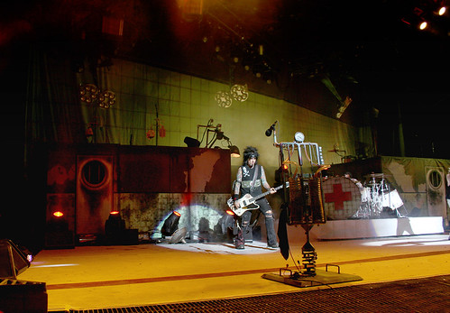 Motley Crue with Digitally Printed Kabuki Backdrop