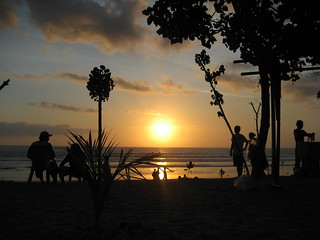 Kuta beach sunset