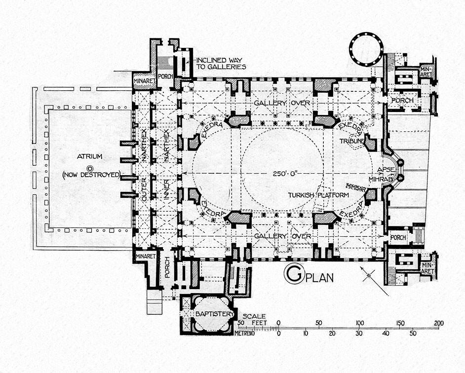 Hagia sophia reconstruction plan a photo on flickriver for 1919 sophia floor plan
