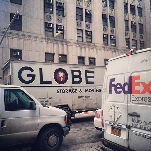 If you look closely, there's a planet hidden in the Globe Moving & Storage logo #latergram