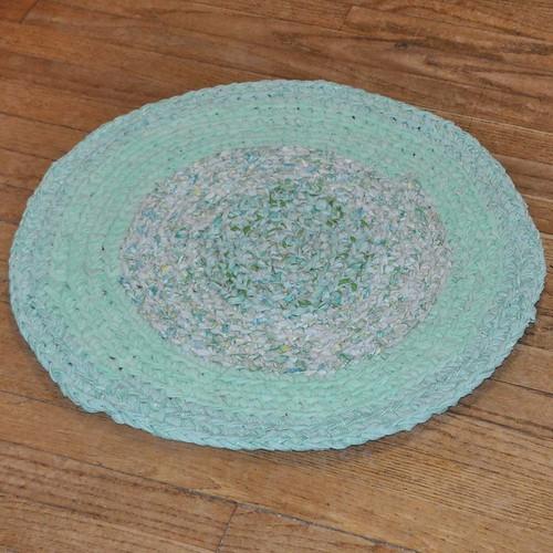 Water Garden Crochet Rug