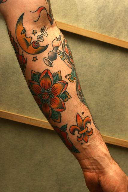 fleur de lis tattoos. Black Bedroom Furniture Sets. Home Design Ideas