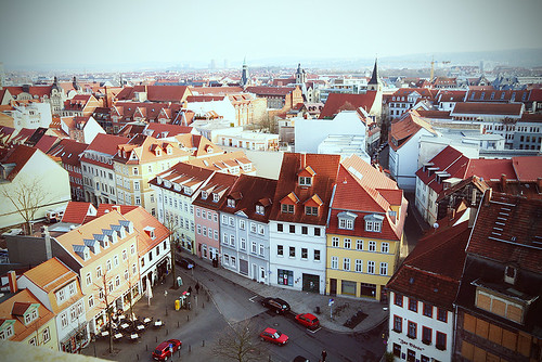 panorama erfurt city