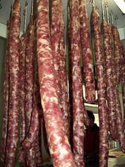 sausage(0.0), vienna sausage(0.0), mettwurst(0.0), salt-cured meat(0.0), boerewors(0.0), dish(0.0), cuisine(0.0), italian sausage(1.0), sujuk(1.0), meat(1.0), longaniza(1.0), food(1.0), bratwurst(1.0),