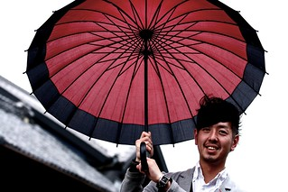 GS: Umbrella Hawker. 本川越 Photowalk.