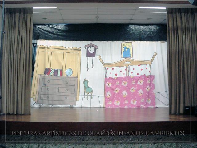 Cenário peça de teatro  Flickr  Photo Sharing!