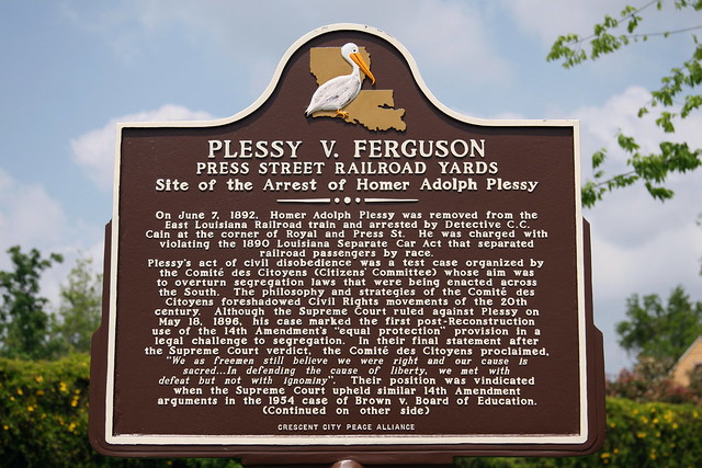 Plessy vs ferguson date in Brisbane
