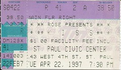 04/22/97 Kiss @ St. Paul, MN (Ticket)