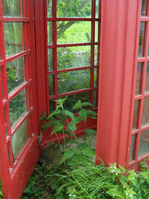 Little used phone booth