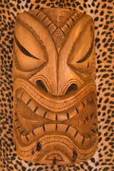 carving, art, brown, sculpture, head, tiki,