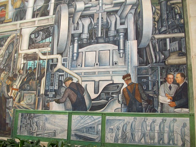 Diego rivera mural at the detroit institute of arts for Diego rivera mural detroit institute of arts