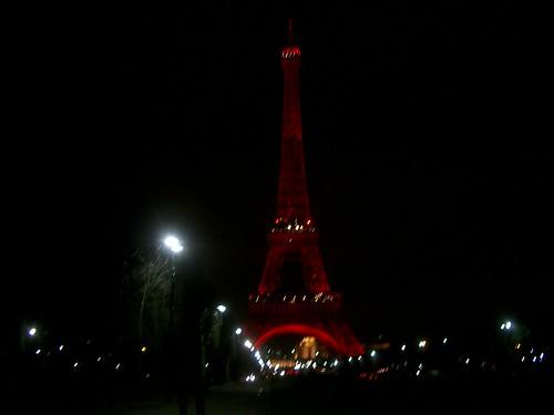 Red Eiffeltower