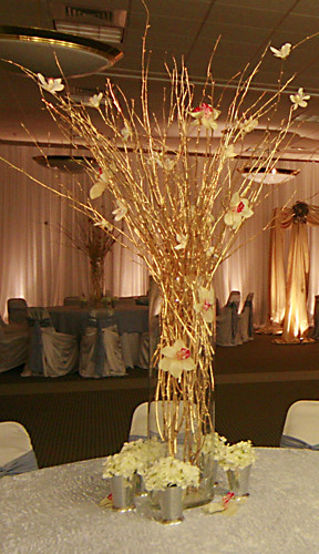 Gold stick centerpiece flickr photo sharing