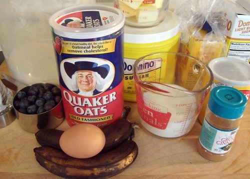 Beautiful Blueberry Banana Bread Ingredients