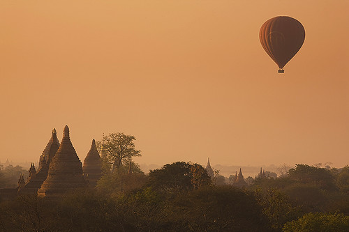 sunrise temple pagoda ancient asia southeastasia burma stupa balloon panoramic temples hotairballoon 5d myanmar canon5d flickrcentral 70200 mandalay pagan pagodas bagan stupas ef70200is canonef70200f4is vftw photographersgonewild capturethefinest