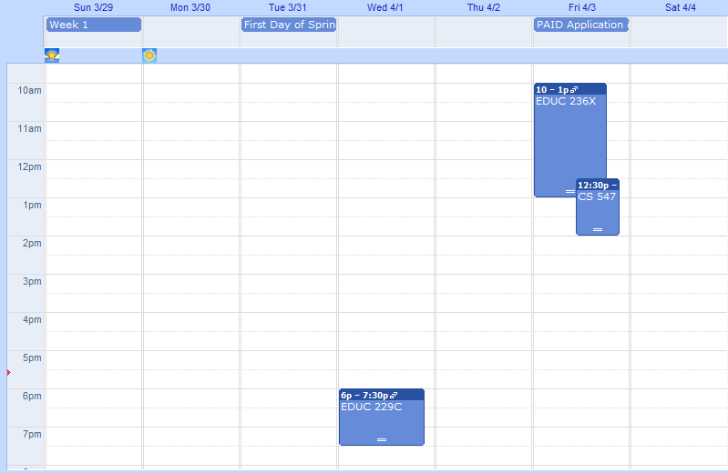 Spring Quarter Schedule from Flickr via Wylio