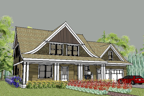 LAKE ELMO CAPE COD HOUSE PLAN RENDERING
