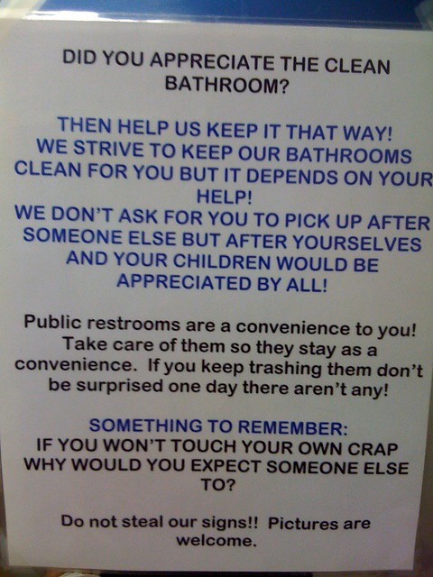 Please keep the bathroom clean flickr photo sharing for Please keep bathroom clean