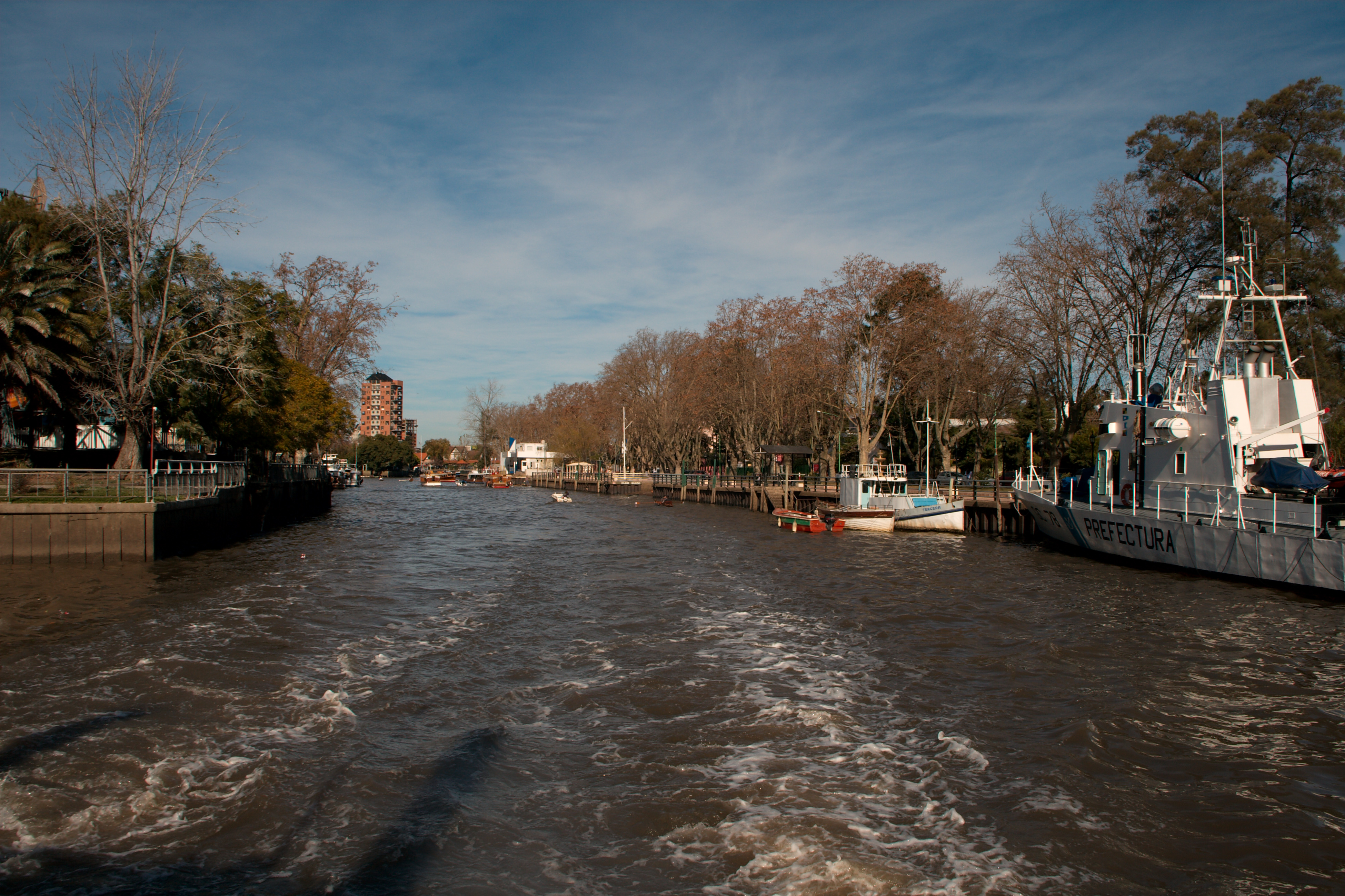 Depart the city for views of Tigre City on the Parana River Delta