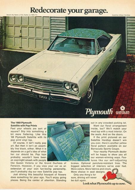 1969 Plymouth Satellite Pop Prints
