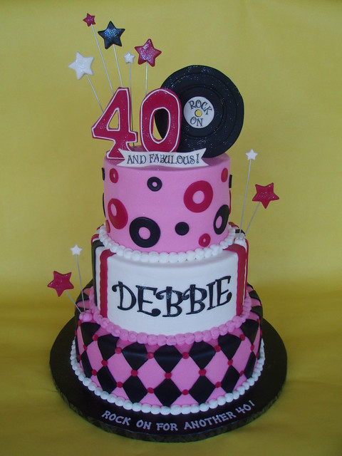 40th rock 39 n roll cake flickr photo sharing for 40th birthday cake decoration