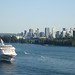 Norwegian Sun Passes Vancouver Skyline and Stanley Park en route to Alaska