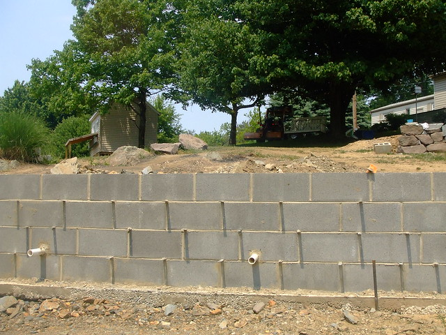 Concrete Block Retaining Wall Flickr Photo Sharing