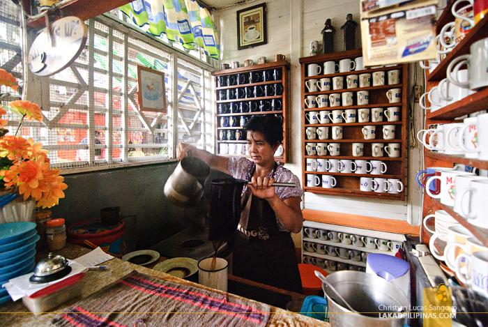 Preparing Coffee at Madge Café in Iloilo City