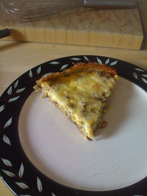 Potato-crusted leek and mushroom quiche | Flickr - Photo Sharing!
