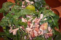 spinach salad, salad, vegetable, leaf vegetable, food, dish, cuisine, caesar salad,