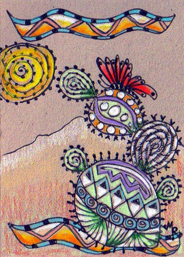 GIFTED...DESERT WHIMSY ATC # 1...