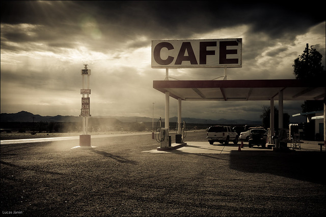 Gas and cafe