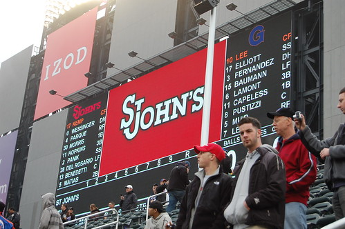 First game at Citi Field (St. Johns Vs. Georgetown) March 29,2009