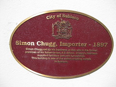 Photo of Simon Chugg red plaque