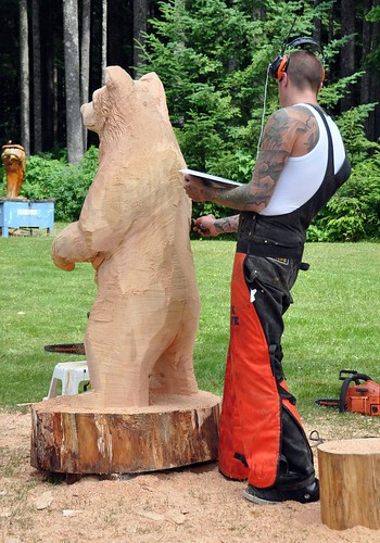 Rosy posy art in the park chainsaw carvings