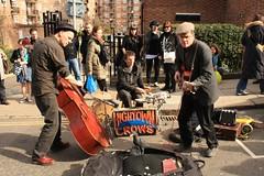 musician, road, street artist, street, pedestrian,