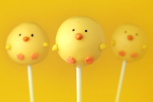 Chick Cake Pops Images : Kari s Cooking: Spring Chicken Cake Pops