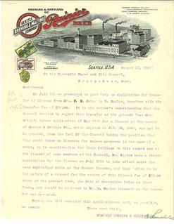 Brewery letterhead, 1908