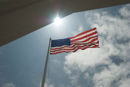Old Glory Flying at the USS Arizonia Memorial