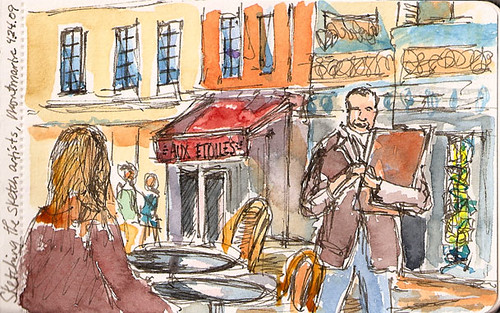 Montmartre_sketcher, Paris