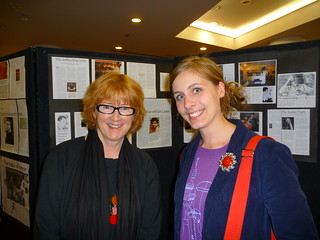 Robyn Stewart and Eleanor Catton at the opening night