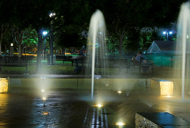 Fountains in Addison Circle Park - #1181