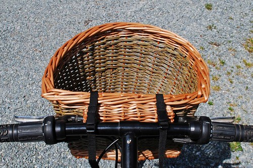 Katherine's bike basket